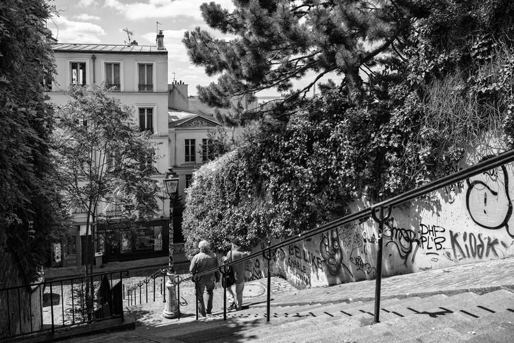 Konstfotografering Black Montmartre - Sunday in Paris