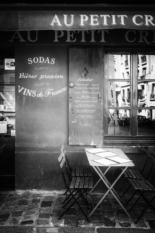 Konstfotografering Black Montmartre - Vins de France