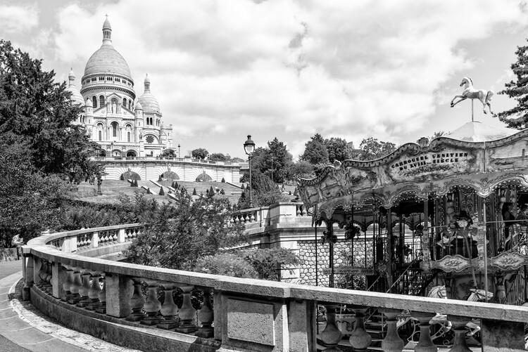 Konstfotografering Black Montmartre - Weekend in Paris