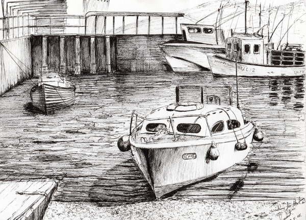 Reprodukcja Boats at Islay Scotland, 2005,