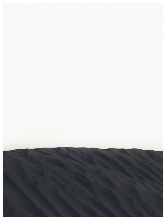 Photographie d'art border black sand
