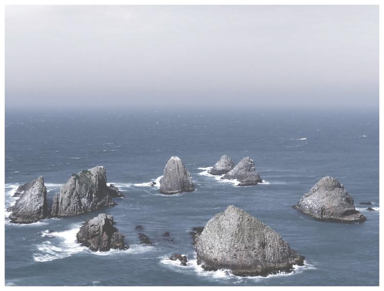 Umelecká fotografia Border cliff sand ocean