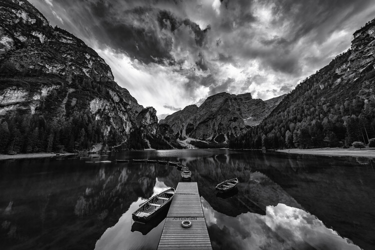 Kunstfotografie Braies' shades of grey