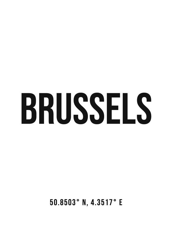 Umelecká fotografia Brussels simple coordinates