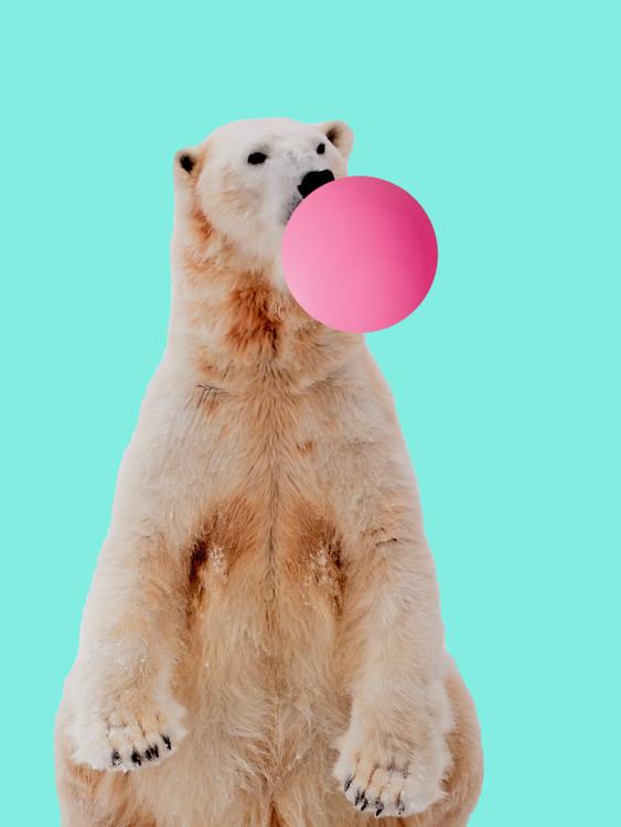 Umelecká fotografia Bubblegum polarbear