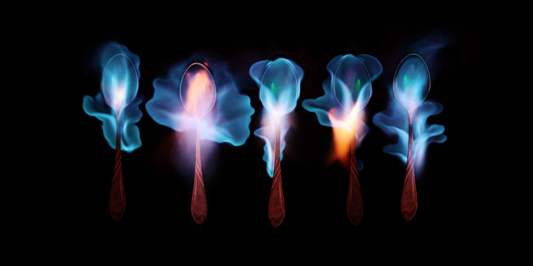 Kunstfotografie Burning magic potion