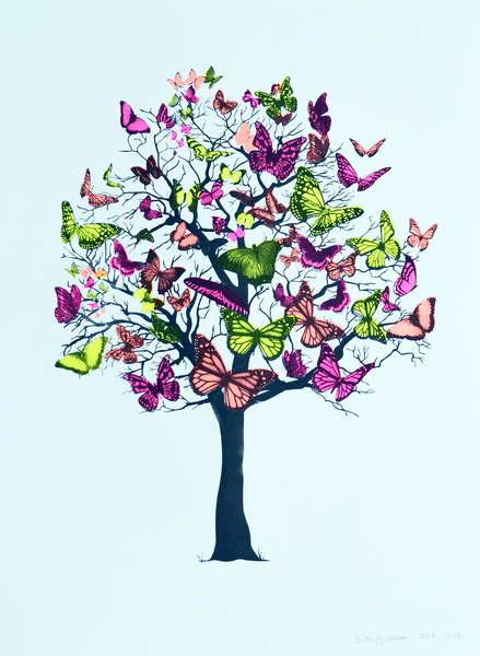 Obrazová reprodukce Butterfly blossom, 2016,