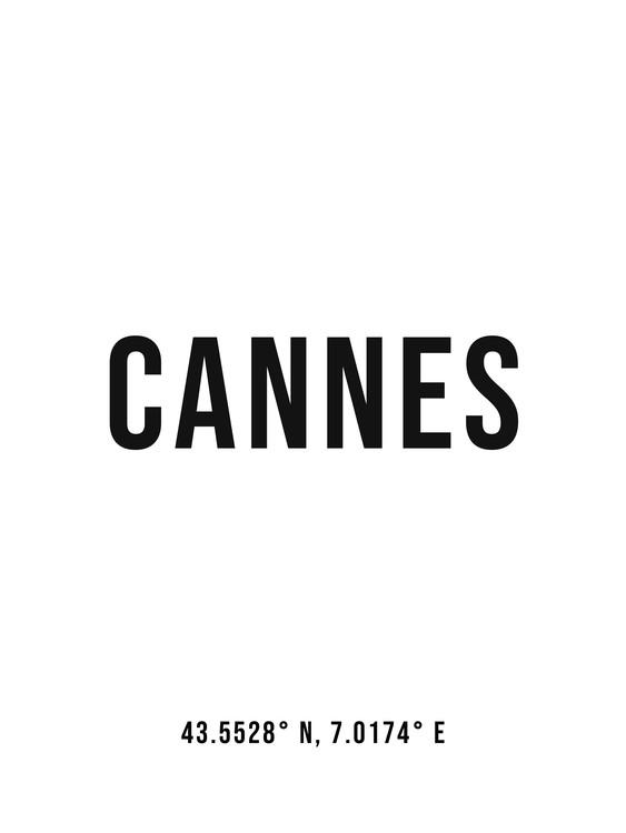 Umelecká fotografia Cannes simple coordinates