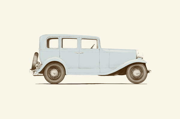 Obrazová reprodukce Car of the 30s