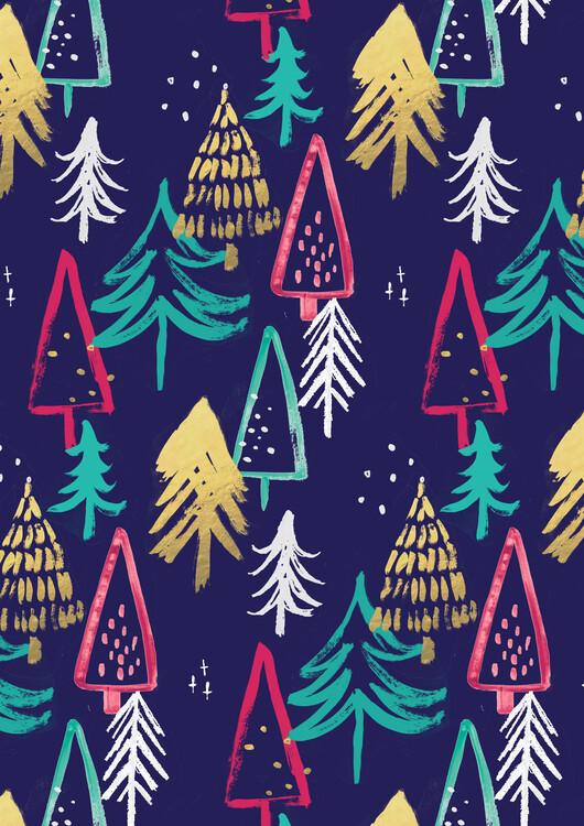 Umelecká fotografia Christmas pattern
