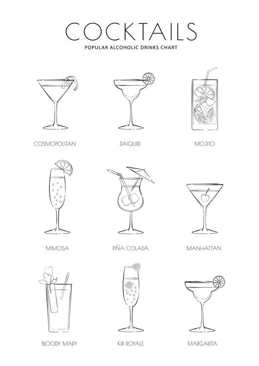 Ilustrare Cocktails