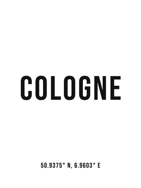 Umelecká fotografia Cologne simple coordinates