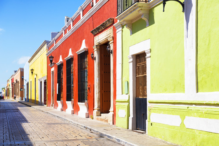 Kunstfotografie Color Street in Campeche