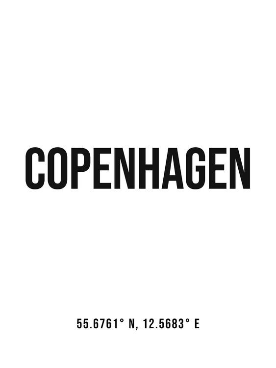 Umělecká fotografie Copenhagen simple coordinates