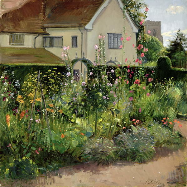 Obrazová reprodukce Corner of the Herb Garden