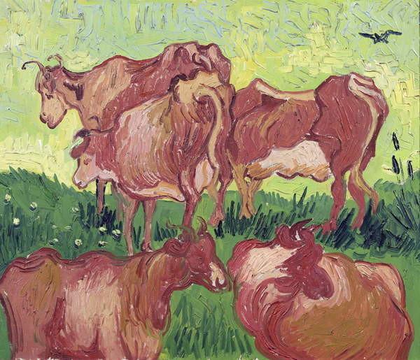 Reproducción de arte  Cows, 1890
