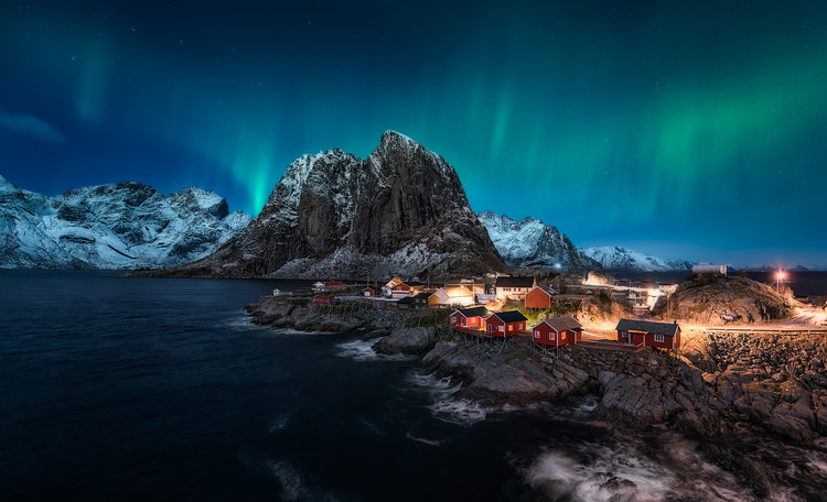 Photographie d'art Dancing over Hamnoy
