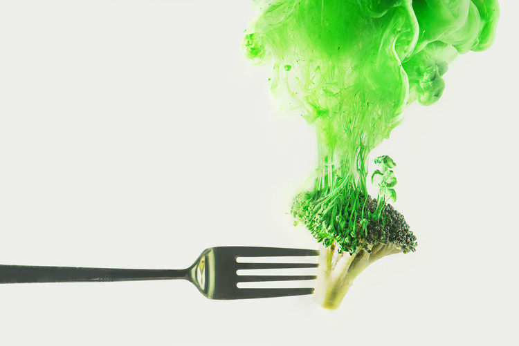 Художествена фотография Disintegrated broccoli