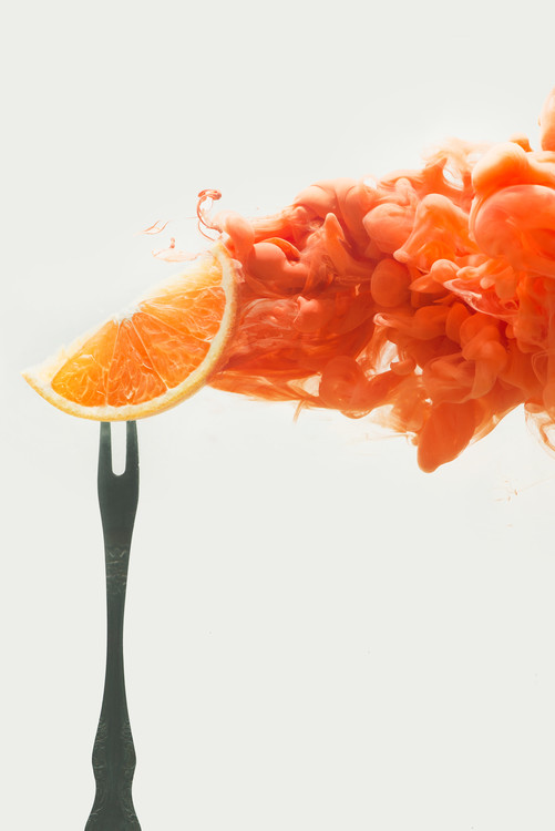 Художествена фотография Disintegrated orange