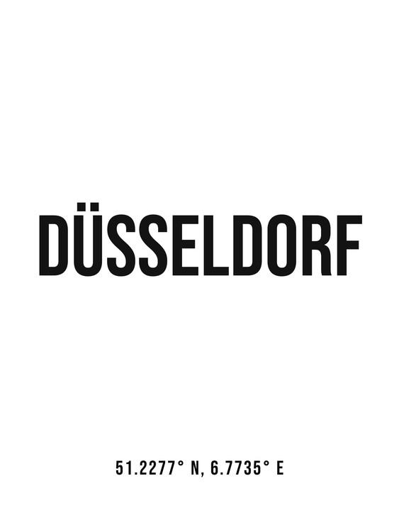 Umelecká fotografia Dusseldorf simple coordinates
