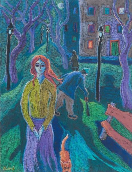 Obrazová reprodukce Evening Walk, 2005