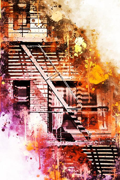 Umelecká fotografia Fire Escape
