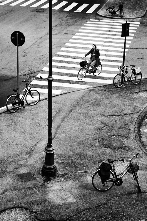 Arte fotográfico five city bikes