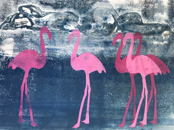 Stampa artistica Flamingos