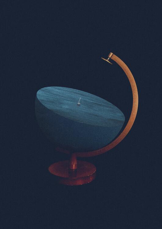 Ilustracja Flat earth