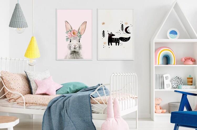 Umělecká fotografie Flower crown bunny pink