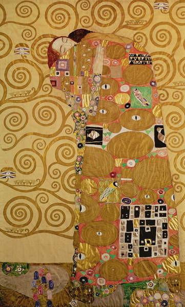 Reproducción de arte  Fulfilment (Stoclet Frieze) c.1905-09 (tempera, w/c)