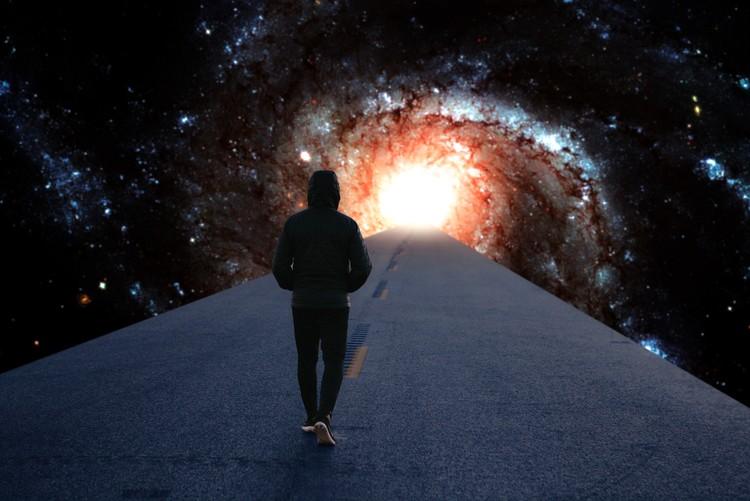 Umělecká fotografie Galaxy's Highway