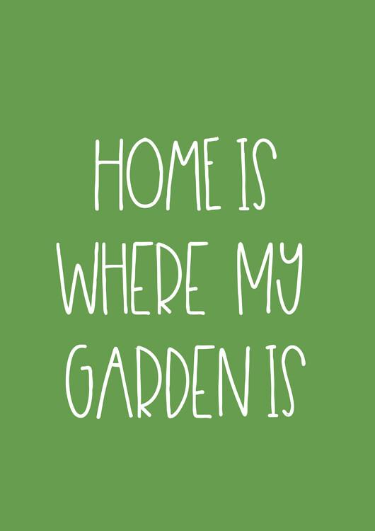Εκτύπωση τέχνης κατόπιν ζήτησης Garden green