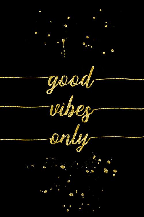 Kunstfotografie Good Vibes Only | Gold