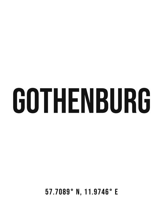 Umelecká fotografia Gothenburg simple coordinates