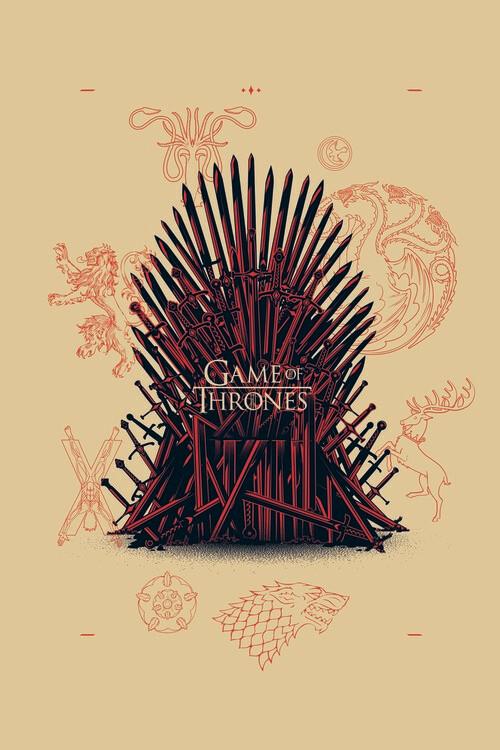 Plakat Gra o tron - Iron Throne