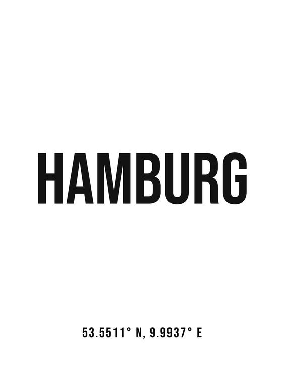 Umelecká fotografia Hamburg simple coordinates
