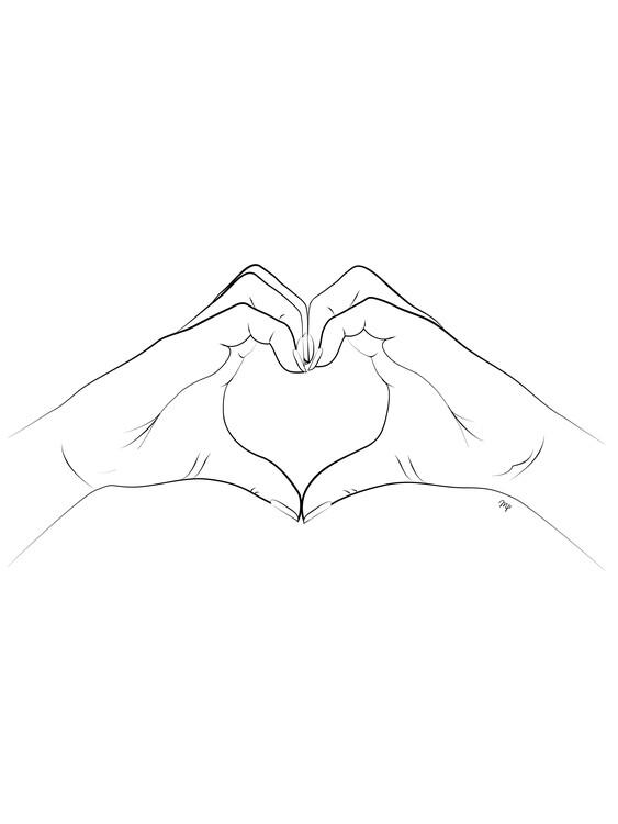 Arte fotográfico Hand Heart