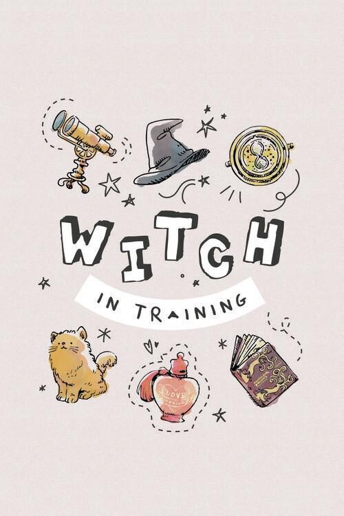 Póster Harry Potter - Bruja en el entrenamiento