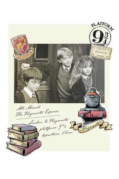 Poster Harry Potter - Hermione, Harry și Ron