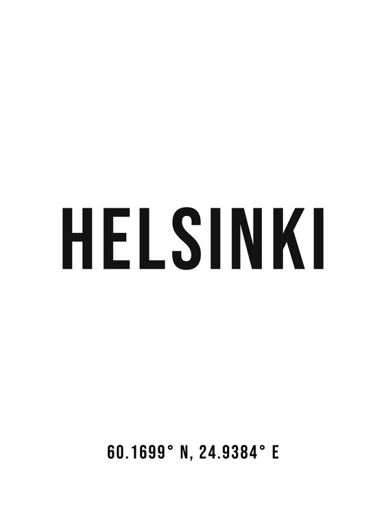 Kunst fotografie Helsinki simple coordinates