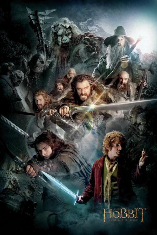 Plakat Hobbit - Niezwykła podróż