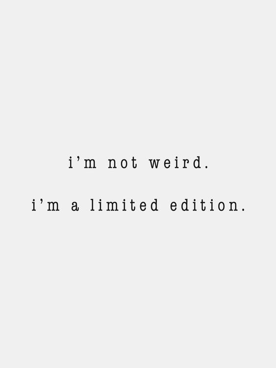 Ilustrace I'm not weird