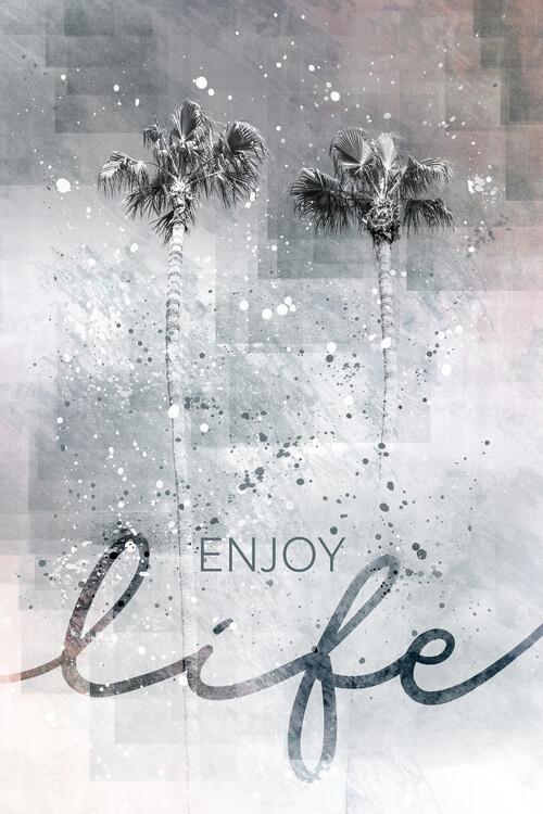 Umělecká fotografie Idyllic palm trees | enjoy life