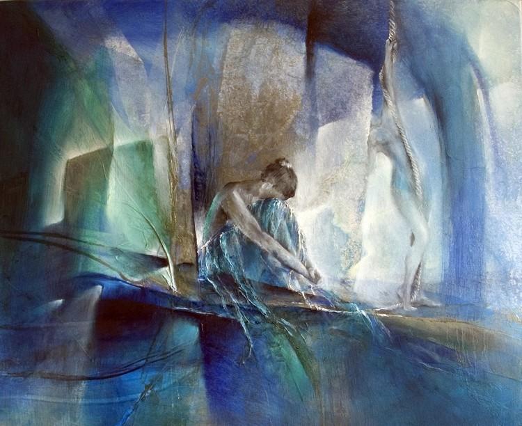 Kunstfotografie Im blauen Raum