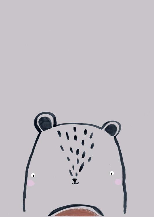 Arte fotográfico Inky line teddy bear