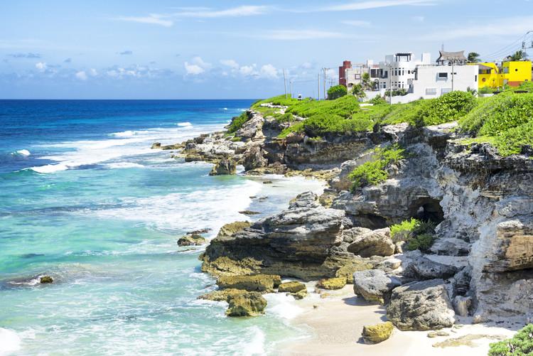 Umělecká fotografie Isla Mujeres Coastline