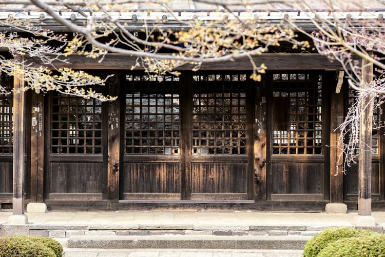 Umělecká fotografie Japanese wooden Facade