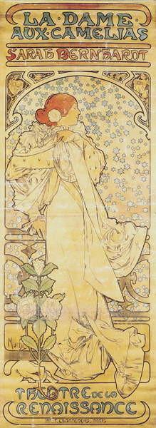 """La Dame aux Camélias"", with Sarah Bernhardt, 1890-1910 Obrazová reprodukcia"