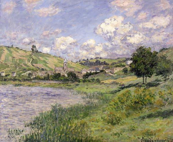 Obrazová reprodukce Landscape, Vetheuil, 1879